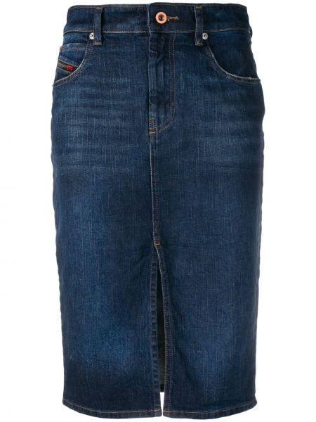 Джинсовая юбка на пуговицах карандаш Diesel