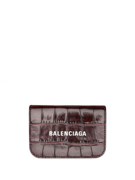 Красный кожаный кошелек для монет с карманами Balenciaga