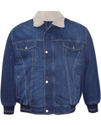 Джинсовая куртка с капюшоном - синяя Dekons
