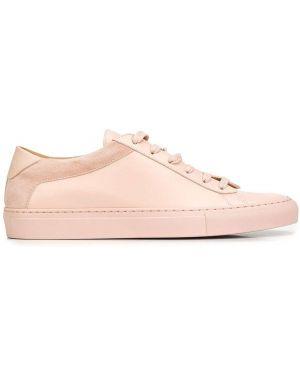 Розовые кожаные кроссовки Koio