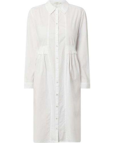 Sukienka rozkloszowana z długimi rękawami - biała Cream