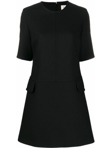 Платье с карманами - черное Mulberry