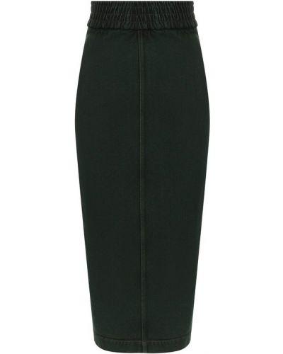 Джинсовая юбка - зеленая No. 21