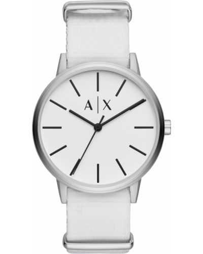 Zegarek biały srebrny Armani Exchange