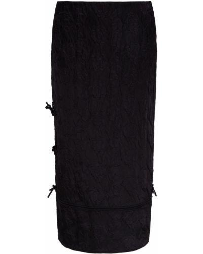 Прямая черная юбка миди на пуговицах Acne Studios