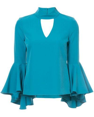 Синяя блузка с расклешенными рукавами Milly