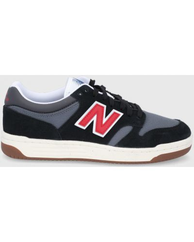 Czarne sneakersy skorzane na obcasie New Balance
