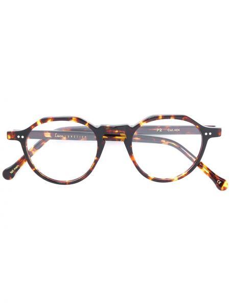 Oprawka do okularów okrągły brązowy Lesca
