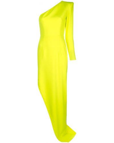 Платье макси длинное - желтое Alex Perry