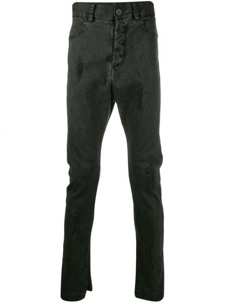 Серые зауженные джинсы-скинни на пуговицах из микрофибры 10sei0otto