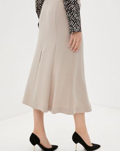 Бежевая юбка свободного кроя Trussardi Collection