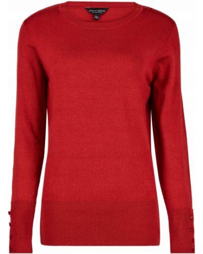 Sweter zapinane na guziki - czerwony Dorothy Perkins