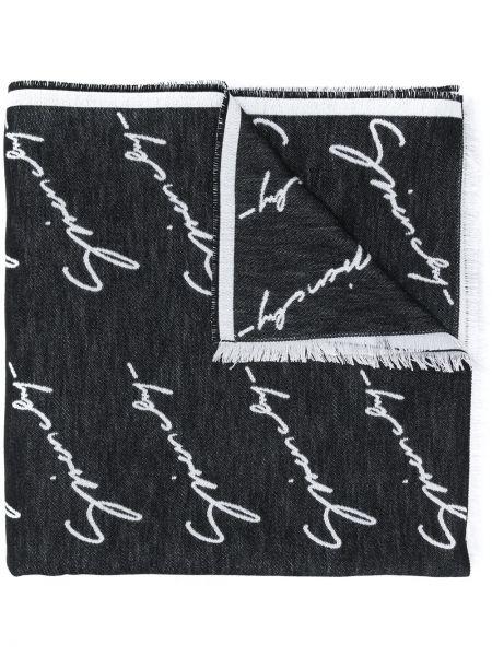 Черный шелковый платок Givenchy