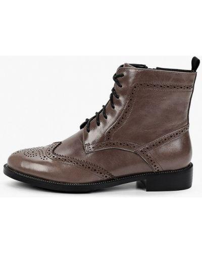 Серые кожаные ботинки Thomas Munz