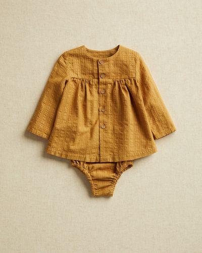 Прямая блузка с вырезом круглая Mango Kids