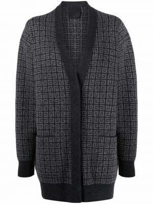 Czarny sweter z dekoltem w serek Givenchy