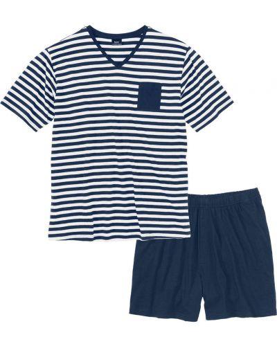 Пижама в полоску темно-синий Bonprix