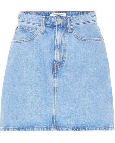 Юбка мини джинсовая вязаная Calvin Klein Jeans