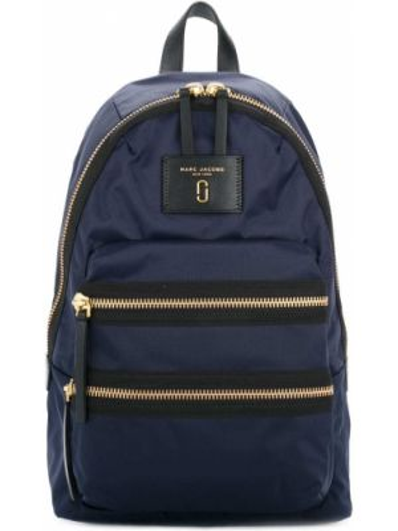 Plecak z nitami niebieski Marc Jacobs