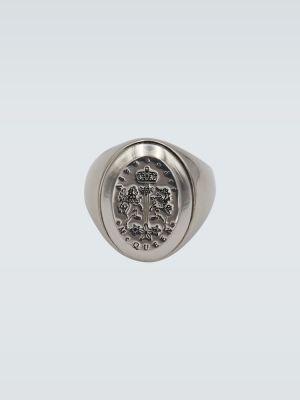Серебряное кольцо металлическое Alexander Mcqueen