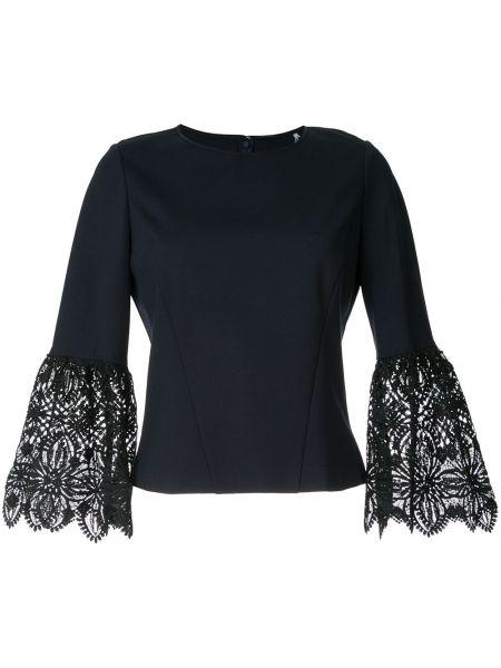 Czarna bluzka koronkowa z wiskozy Elie Tahari