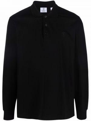 Koszula z haftem - czarna Burberry
