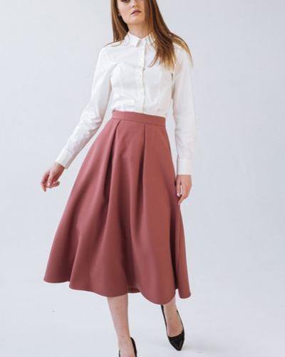 Костюмная юбка из вискозы со складками Vovk