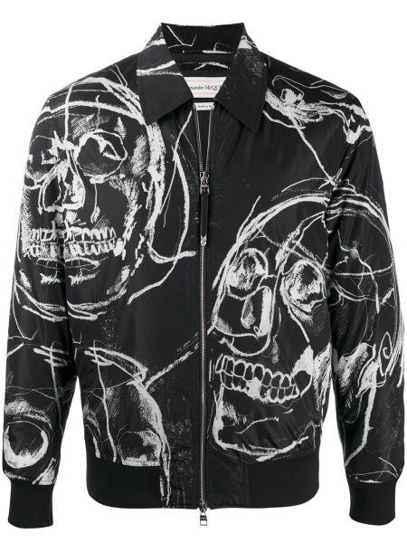 Черная классическая рубашка с воротником на молнии Alexander Mcqueen