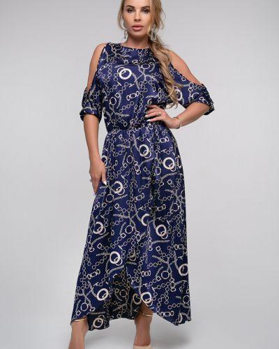 Приталенное нарядное платье миди с запахом Петербургский Швейный Дом