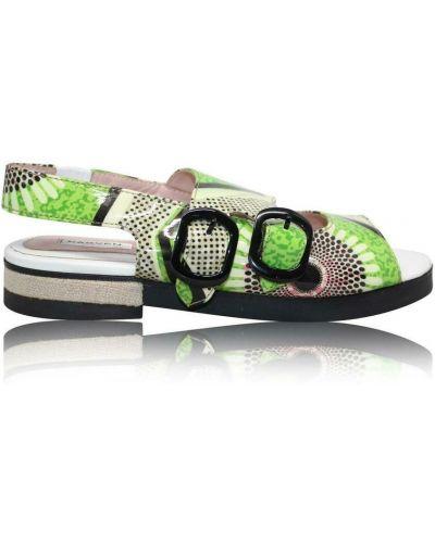 Zielone sandały skórzane Carven