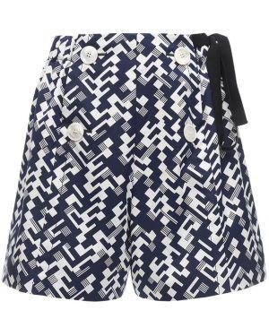 Хлопковые шорты эластичные Prada