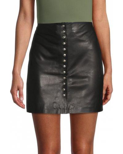 Черная пуховая юбка Iro