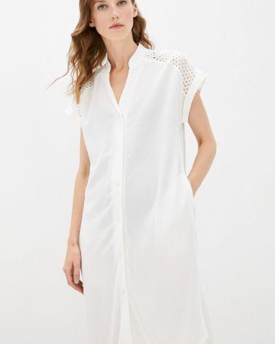 Белое платье летнее Belarusachka
