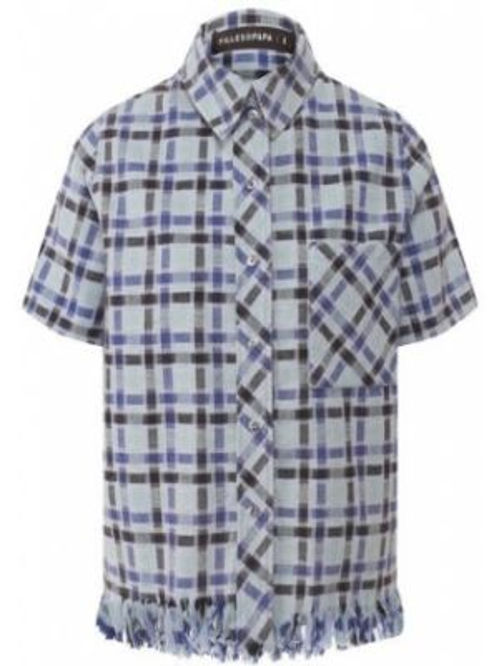 Хлопковая синяя рубашка Filles A Papa