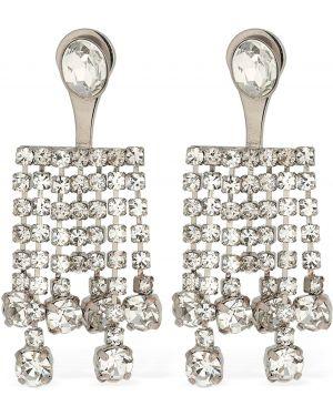 Szare kolczyki sztyfty srebrne kaskadowe Ca&lou