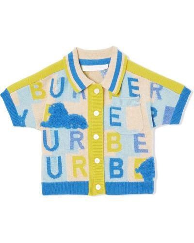 Кардиган синий Burberry Kids
