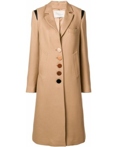 Длинное пальто с капюшоном на пуговицах Marco De Vincenzo