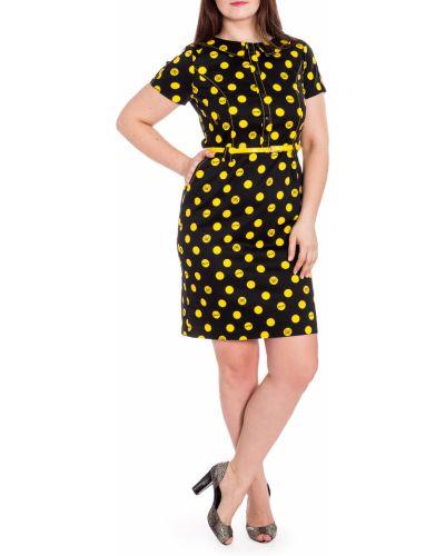 Платье с поясом в горошек желтый Lacywear