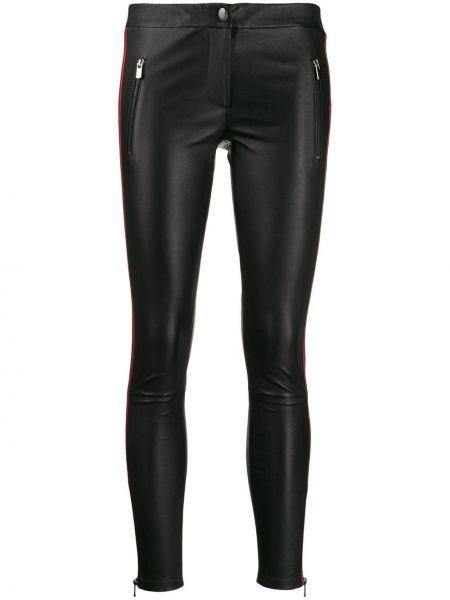 Черные кожаные брюки с карманами Arma