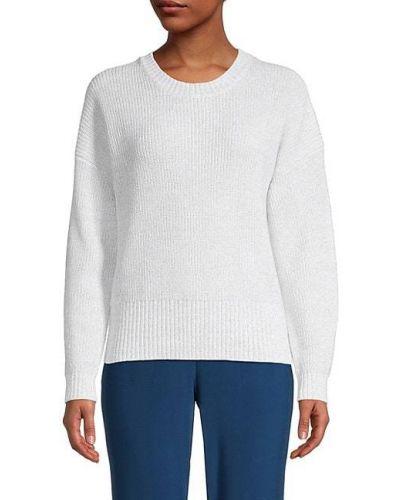 Хлопковый теплый белый длинный свитер 525 America