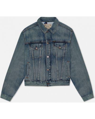 Хлопковая джинсовая куртка с медведем Polo Ralph Lauren