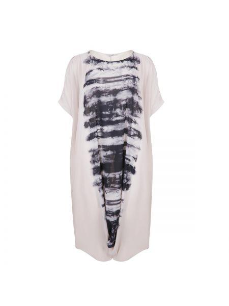 Расклешенное платье мини с рисунком с вырезом с короткими рукавами Mat Fashion