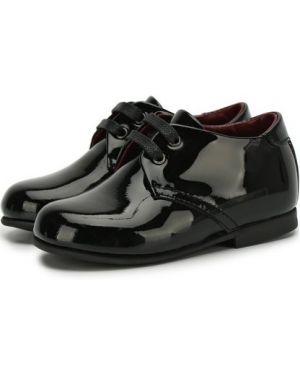 Кожаные черные туфли на каблуке с подкладкой Dolce & Gabbana