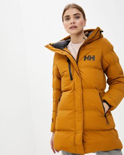 Коричневая утепленная куртка Helly Hansen
