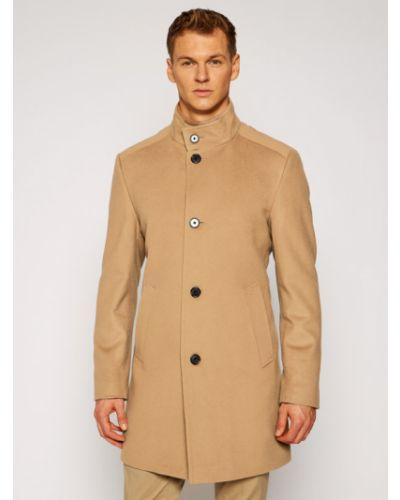 Brązowy płaszcz wełniany Joop!