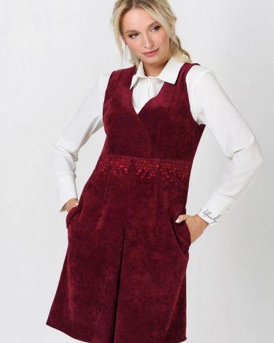 Бордовое вечернее платье Ricamare