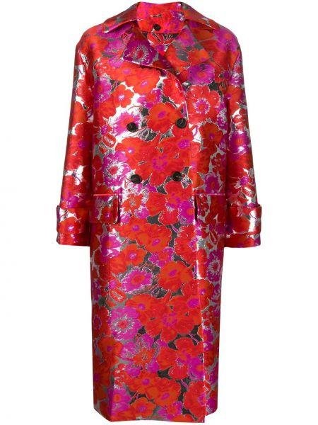 Długi płaszcz podwójnie różowy Msgm