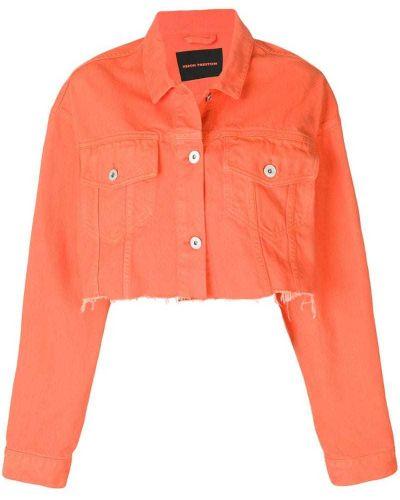 Джинсовая куртка длинная укороченная Heron Preston