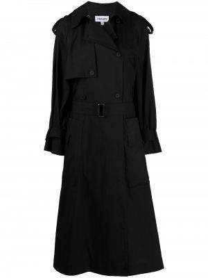 Czarny trencz Kenzo