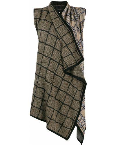 Шерстяное черное пальто без рукавов Antonio Marras